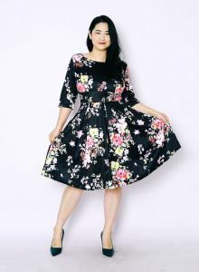 플로럴 스윙 드레스