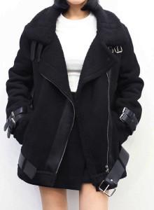 겨울 스웨이드 여자 무스탕 라이더 자켓