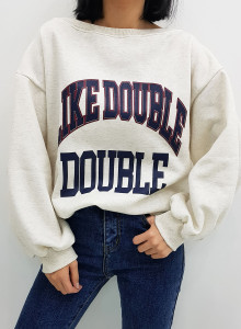 보트넥 오프숄더 여성 기모 맨투맨 티셔츠 3color