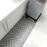 양면 헤링본 그리드 패턴 PVC 주방매트