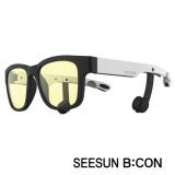 5-2)스마트글라스SEESUN B:CON-10 (시선 비콘) 무광블랙/화이트/블랙/청광(실내용:TV,모니터등) 블루투스헤드셋안경