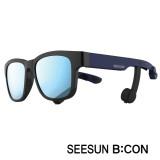 12-3)스마트글라스SEESUN B:CON-10 (시선 비콘) 유광블랙/네이비/블랙/블루미러편광선글라스 골전도헤드셋/골전도블루투스이어폰/골전도이어폰/진동이어폰