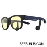 11-2)스마트글라스SEESUN B:CON-10 (시선 비콘) 무광블랙/네이비/블랙/청광(실내용:TV,모니터등) 블루투스헤드셋안경