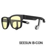 4-2)스마트글라스SEESUN B:CON-10 (시선 비콘) 유광블랙/블랙/화이트/청광(실내용:TV,모니터등) 블루투스헤드셋안경