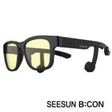 3-2)스마트글라스SEESUN B:CON-10 (시선 비콘) 유광블랙/블랙/블랙/청광(실내용:TV,모니터등) 골전도안경/골전도헤드셋/골전도블루투스이어폰/골전도이어폰/진동이어폰