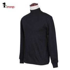 남자 반목티 기모 맨투맨 T630 겨울 반폴라 티셔츠