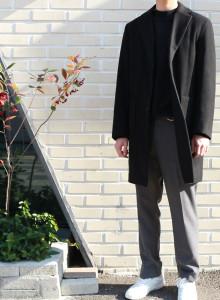 남성 겨울 데일리 싱글 코트