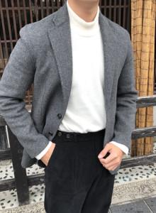 [heathen] 핸드메이드 싱글 자켓 (그레이)