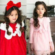 (겨울신상)핑크베리 방울원피스[빨강, 핑크] 5호~13호