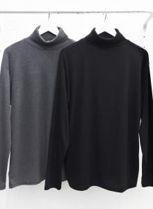 남성 기본 목폴라 터틀넥 티셔츠 2color