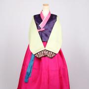 [중고][A급] 여성한복 A265 (55사이즈) 여리여리 배자포함 예쁜 한복