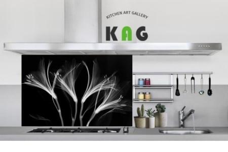 주방아트보드 키친아트갤러리(디자인)-알스트로메리아 블랙(Large사이즈)
