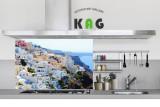 주방아트보드 키친아트갤러리(디자인)- 산토리니 마을 (small사이즈)