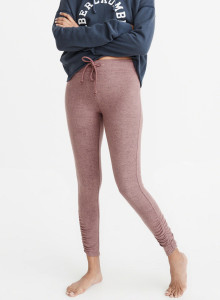 아베크롬비 레깅스 COZY CINCHED LEGGINGS Mauve