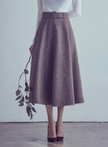 카인듀 / 벨트 풀 스커트 / belt full skirt