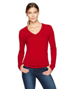 [미국] 라크앤로 100% 캐시미어 니트 V-Neck Pullover Sweater Red