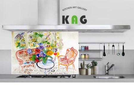 주방아트보드키친아트갤러리(명화 )라울뒤피 의자가있는풍경(Large 사이즈)