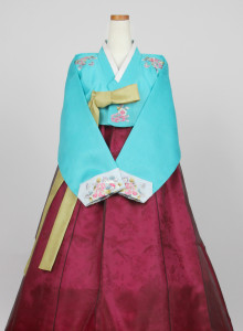 [중고][A급] 여성한복 A369 (99사이즈) 보기드믄 빅사이즈 예쁜 한복