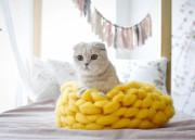 청키숨숨집 아크릴 100% 고양이 숨숨집 고양이방석