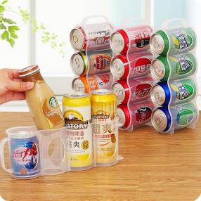 냉장고 정리소품 캔음료정리함 반투명 4구