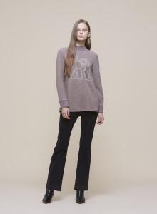 [Olivia Lauren]자수프린트 포인트 티셔츠_VOCALTW9421